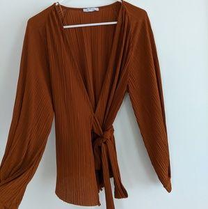 Zara wrap blouse S